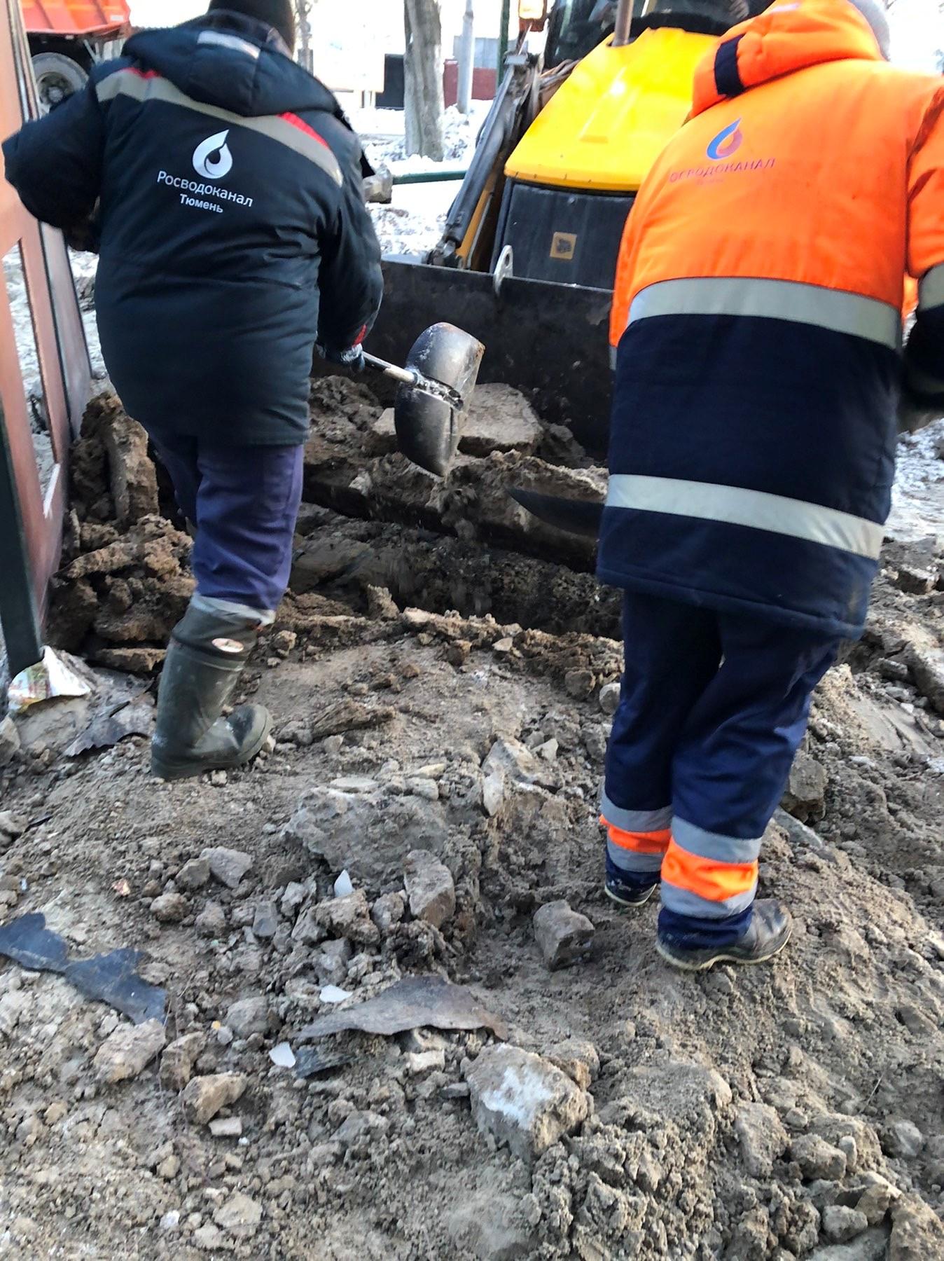 В Тюмени восстанавливают территорию после ремонта коллектора у Гилевской рощи 2