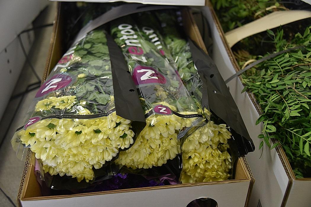 80 тонн живых цветов привезли в аэропорт Кольцово
