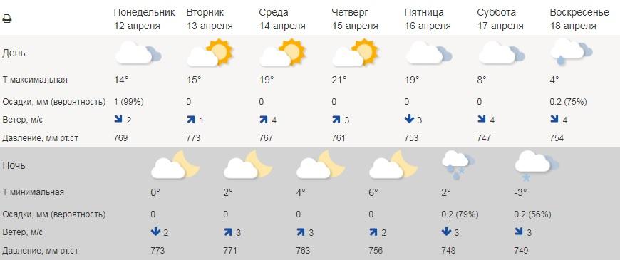 В Курганской области на неделе потеплеет до +21 градуса