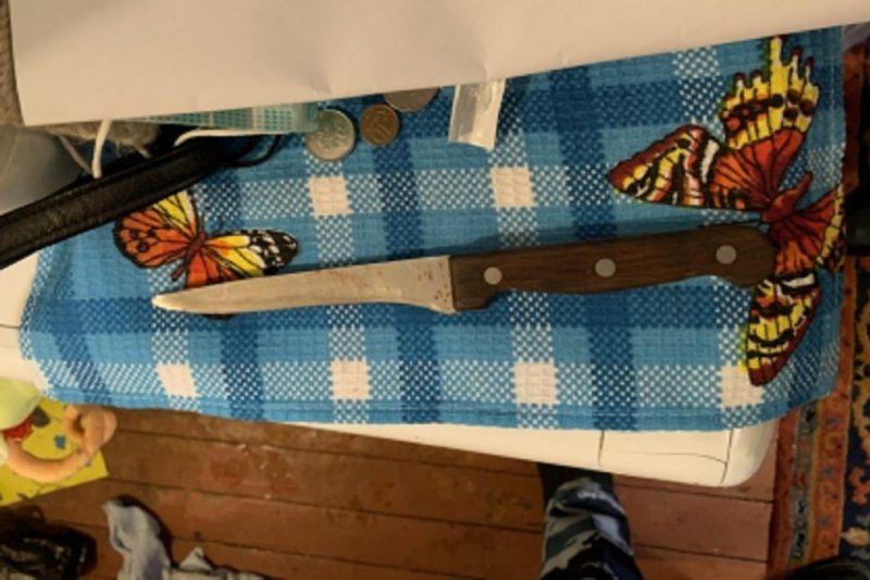 Нож + место убийства