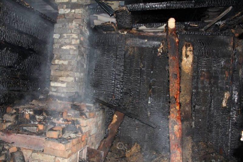 Пожар + печь + дотла