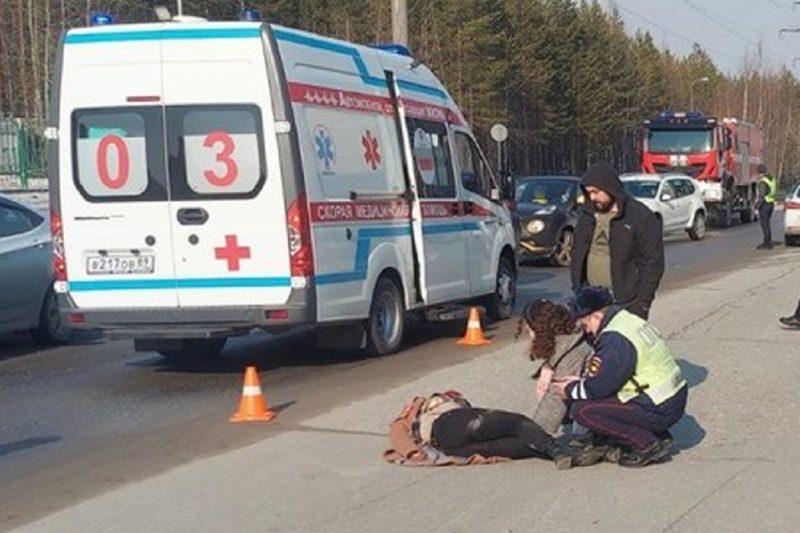 В Ноябрьске иномарка сбила молодую девушку