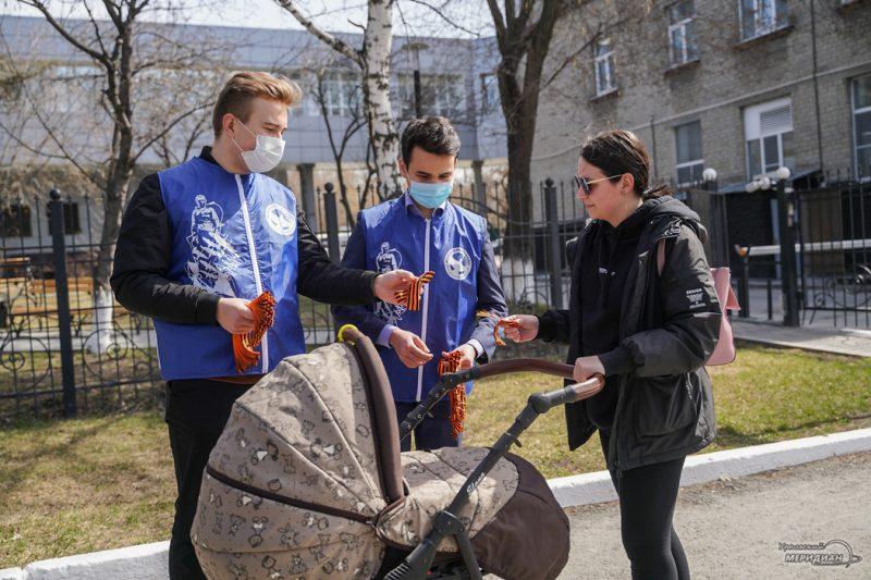 georgievskaya lentochka volontery den pobedy 14