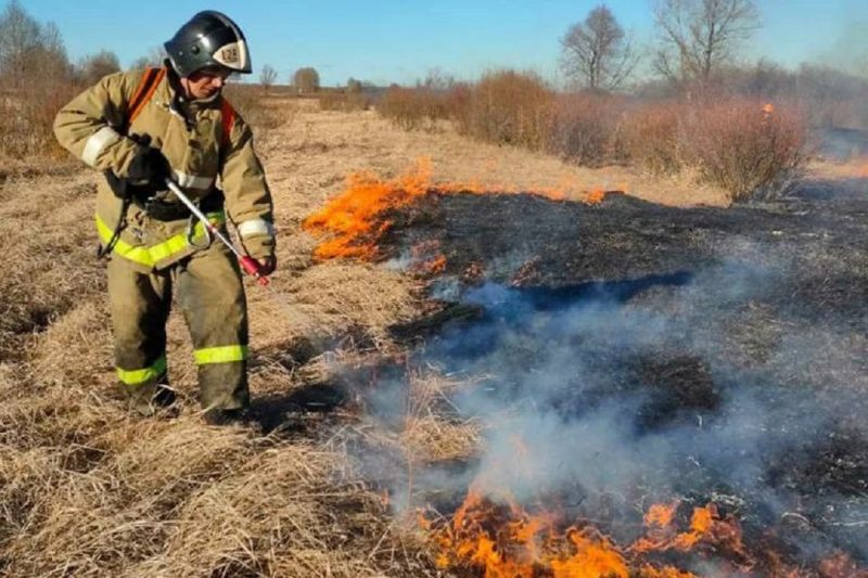 пожар мчс пожарный