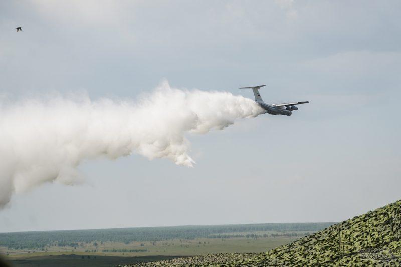 Лесной пожар самолет