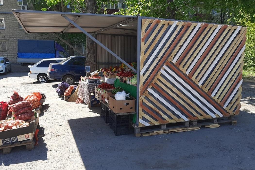Ларёк + торговля овощами и фруктами