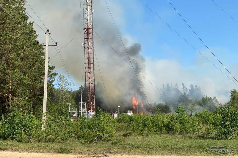 Лесной пожар огонь забор вышка