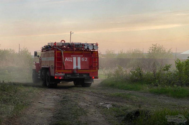 Пожарная машина в лесу Березовский Свердловская область