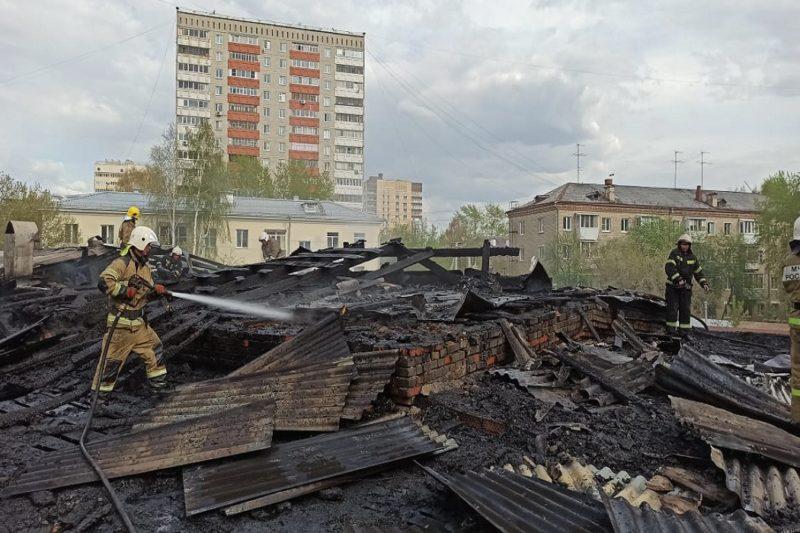 Pozhar na sklade v Ekaterinburge