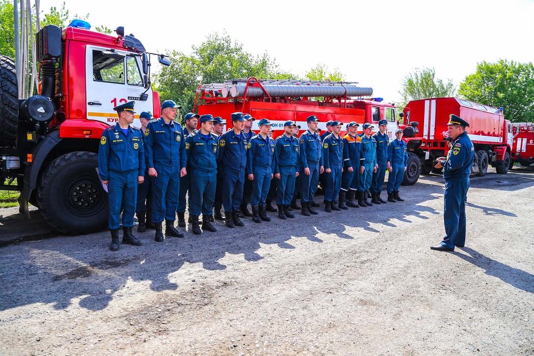 Пожарные + личный отряд