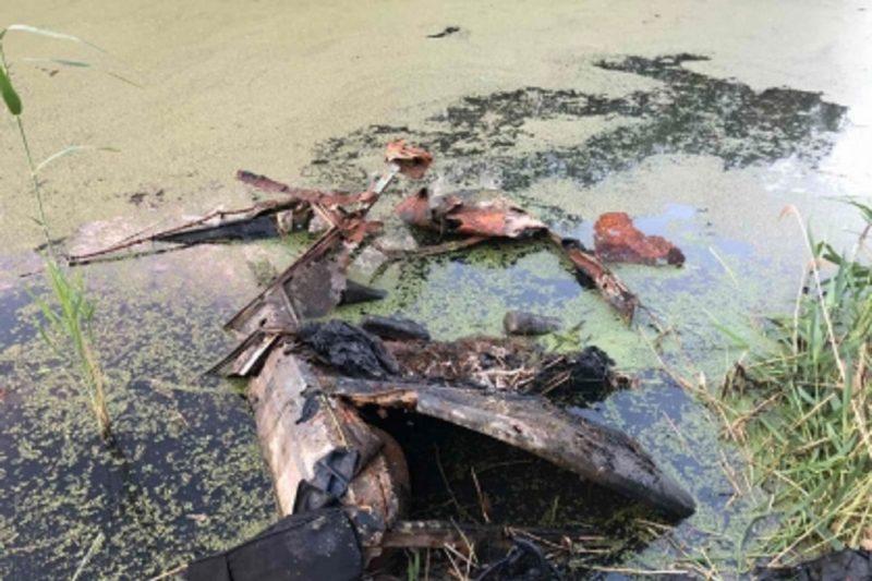 В Тюмени в пруду нашли автомобиль с человеческими останками