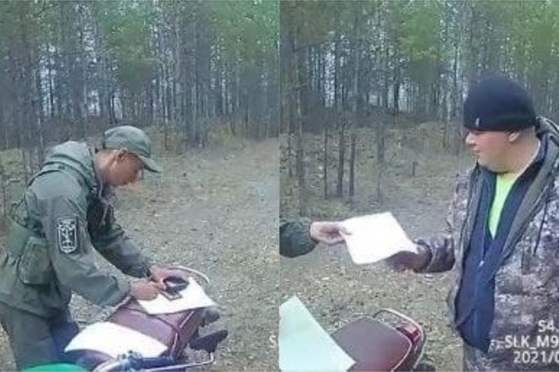 В национальном парке «Зигальга» оштрафовали мужчину за квадроцикл