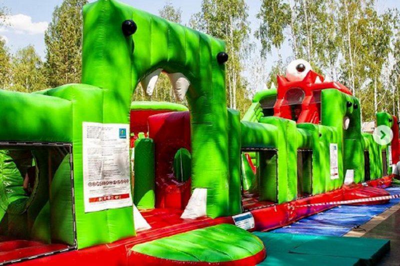 В парке Маяковского в Екатеринбурге открыли гигантский батут «Бубука»