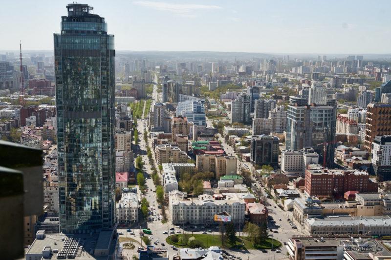 gorod Ekaterinburg doma Vysotskiy 1
