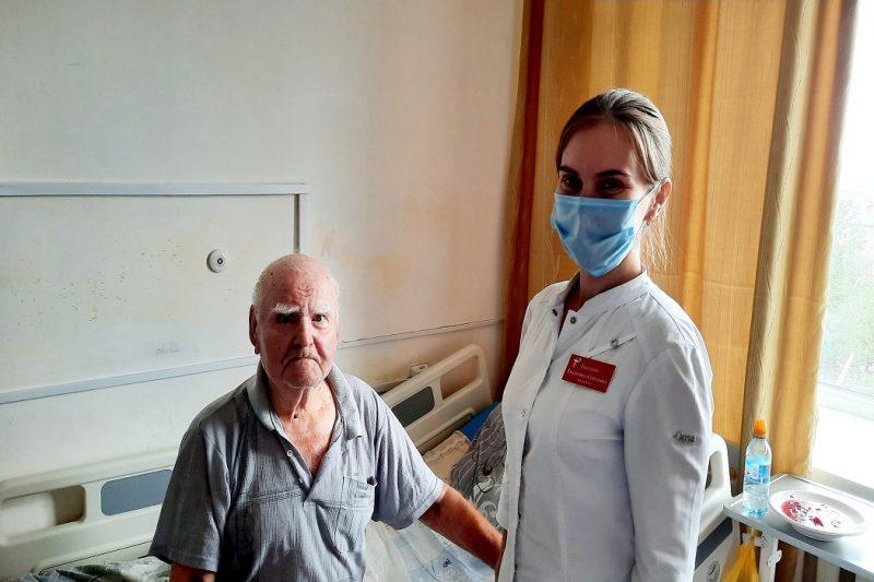 27.06.2021 91 letniy zhitel Berdyuzhya smog pobedit insult
