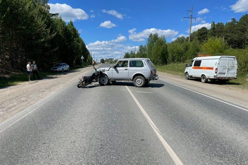 Под Тюменью 13-летний подросток попал в ДТП на мотоцикле