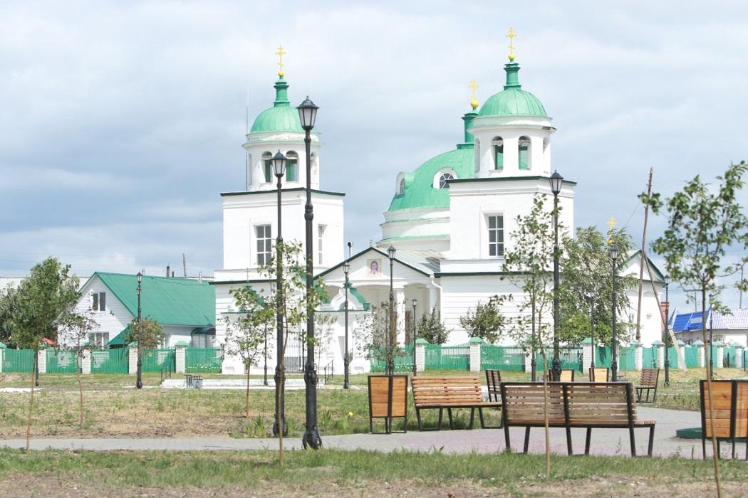 Церковь + скамейки + храм + Курганская область