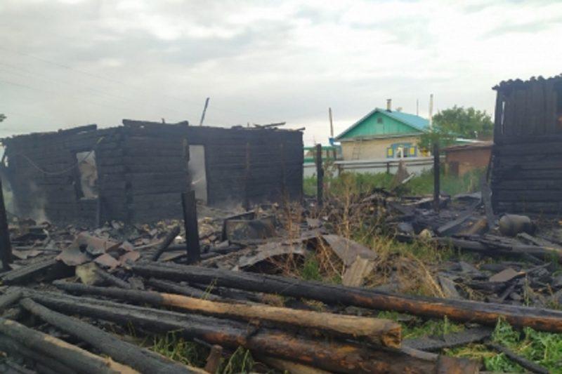 В Сладковском районе при пожаре в частном доме погиб пенсионер