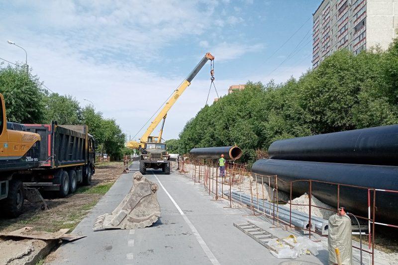 В Тюмени началась реконструкция тепломагистрали вдоль улицы Широтной