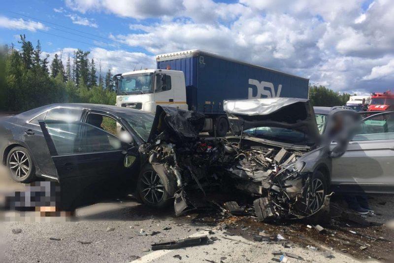 В лобовом ДТП на трассе Тюмень-Ханты-Мансийск погиб мужчина