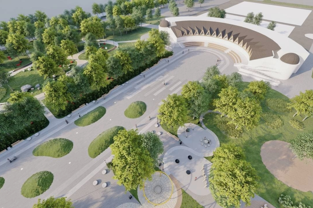 Челябинцам показали проект парка у гостиницы Виктория