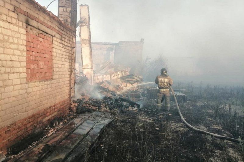 В Артёмовском округе ликвидировано горение на 1,5 га бывшего леспромхоза