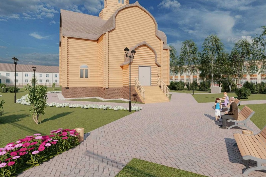 В сибирской деревне Шапше ХМАО благоустроят сквер и площадку у Храма