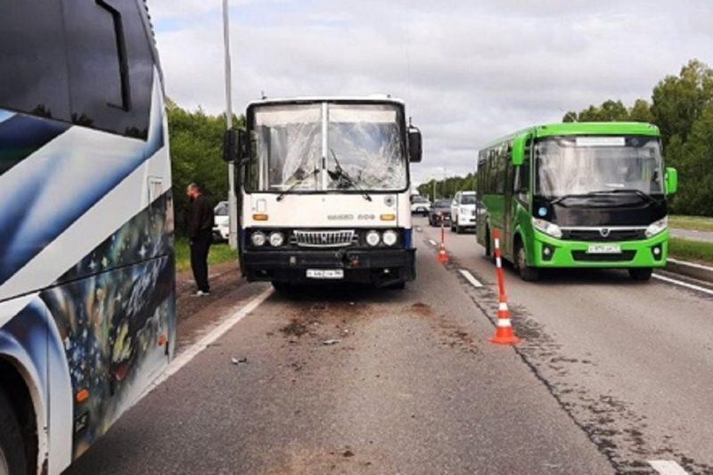 Под Тобольском в ДТП с двумя автобусами пострадали двое пассажиров 1Под Тобольском в ДТП с двумя автобусами пострадали двое пассажиров 1