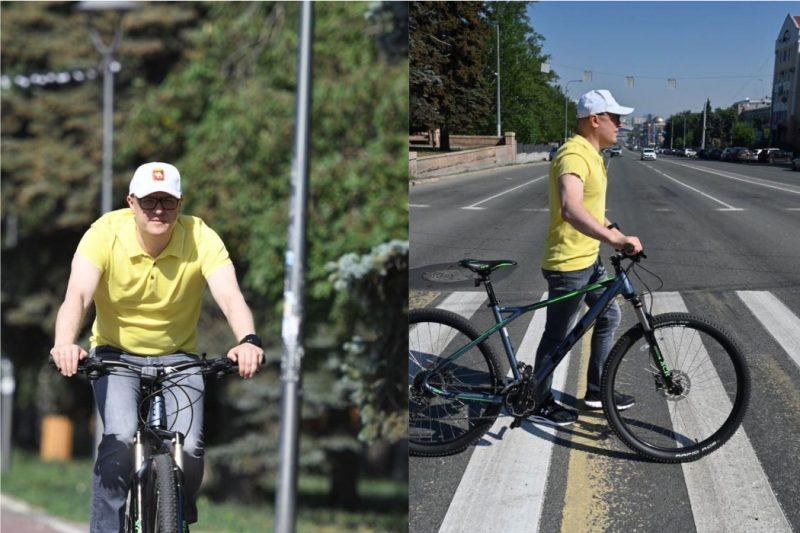 Текслер протестировал Челябинск на велосипеде