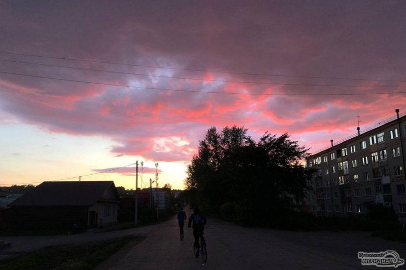 огненный закат
