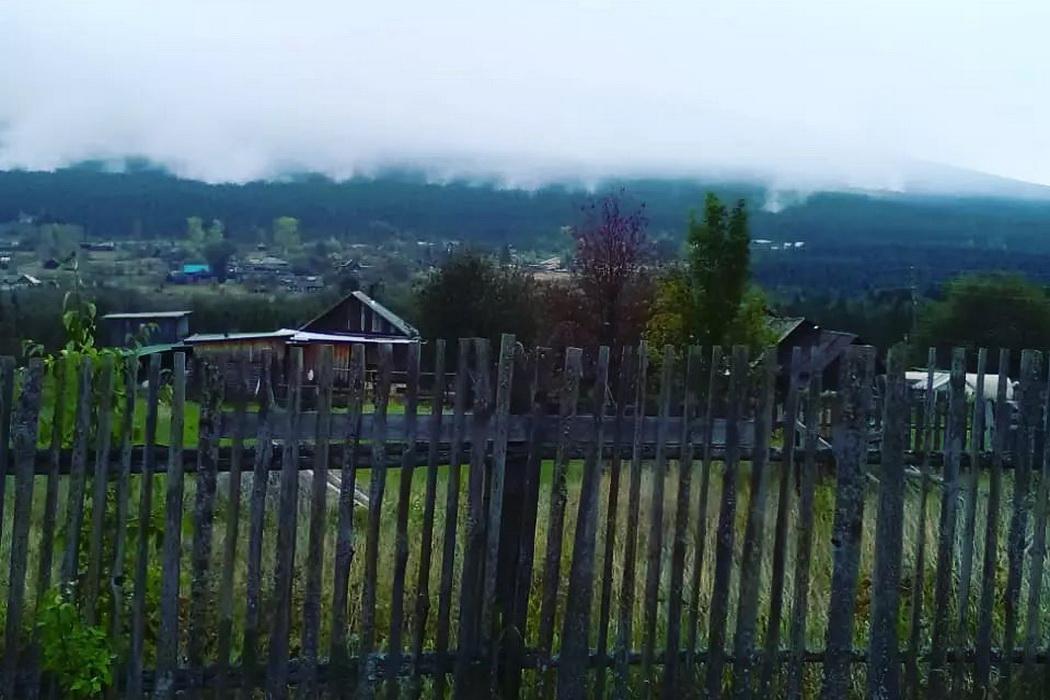Пожар в поселке Косья