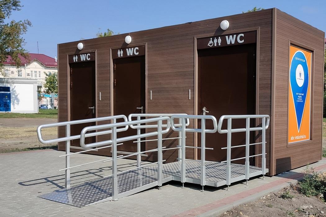Туалет + модульный туалет + общественный туалет