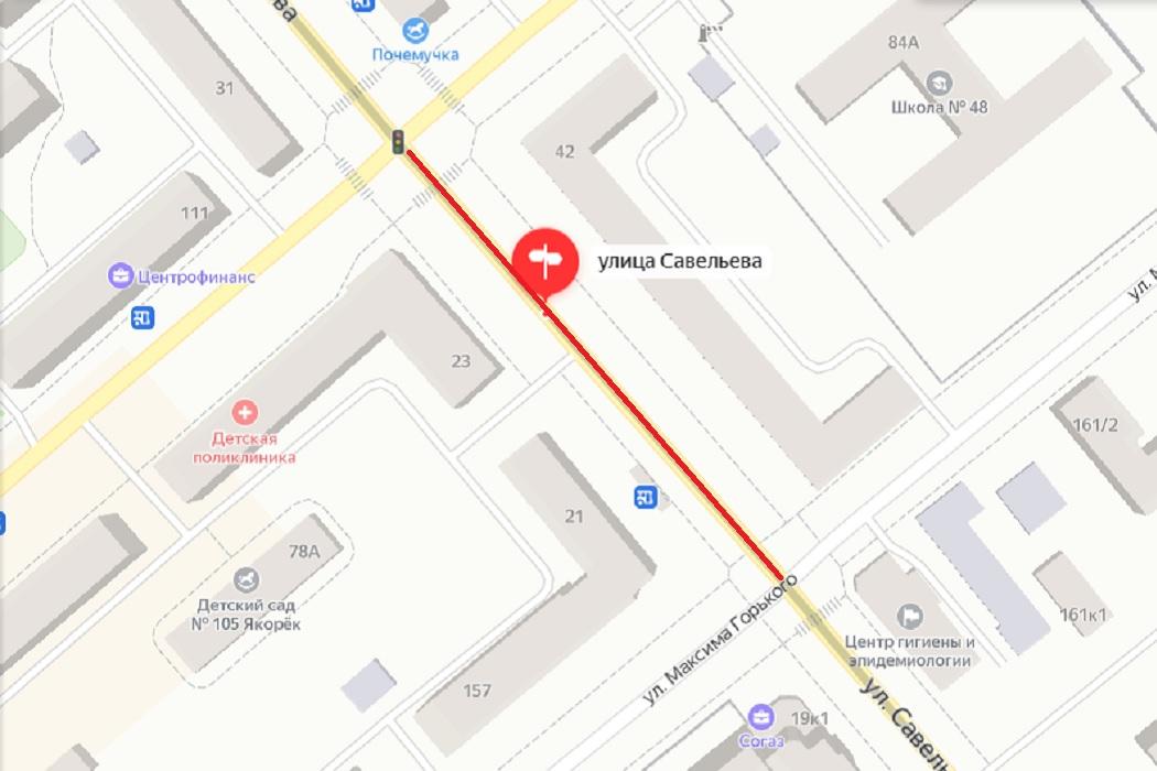 В Кургане продлили закрытие движения по улице Савельевой