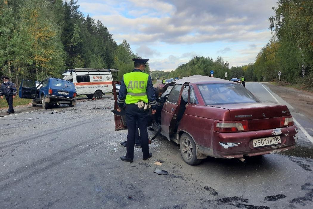 В ДТП двух ВАЗов на Северном подъезде к Нижнему Тагилу погиб 34-летний пассажир