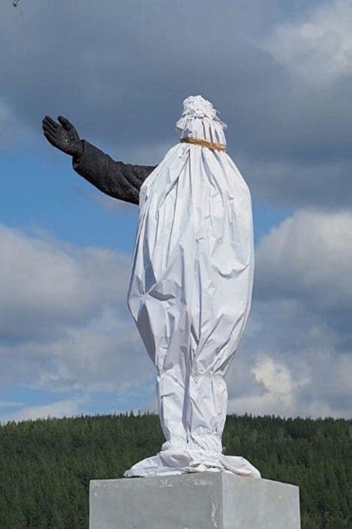 В Миассе разрушающийся памятник Ленину будут восстанавливать