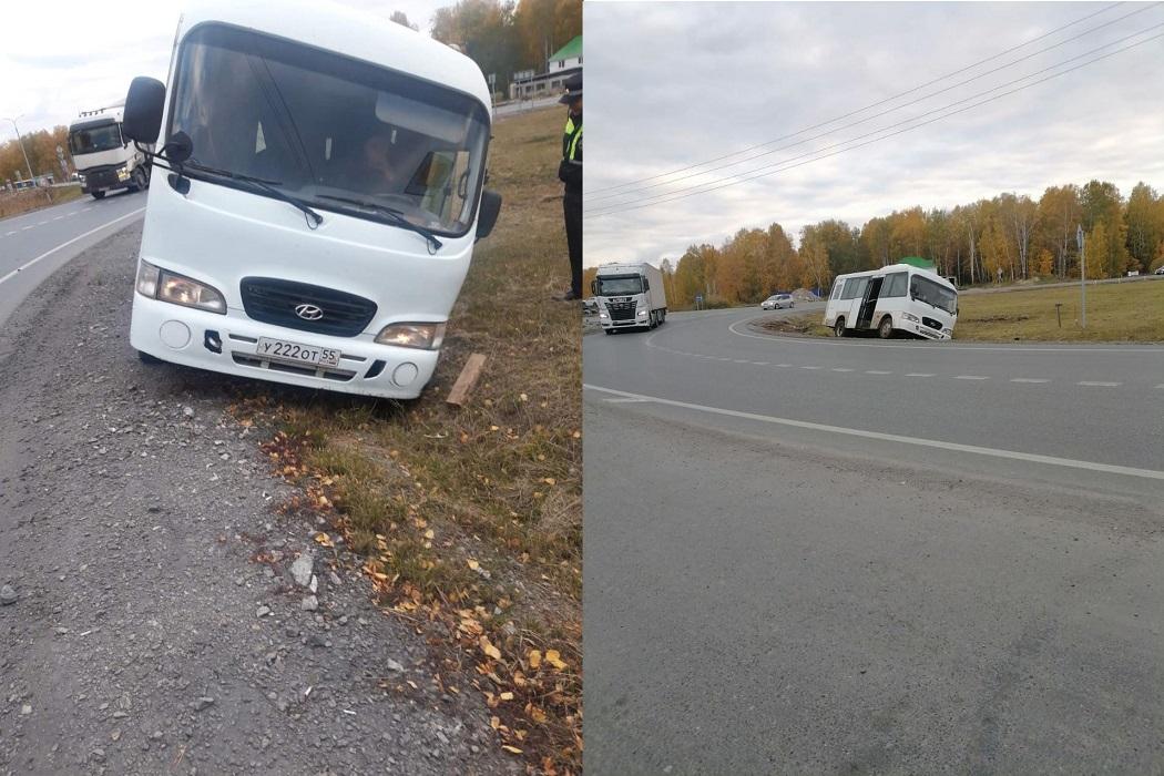 На тюменской трассе пьяный водитель едва не перевернул автобус
