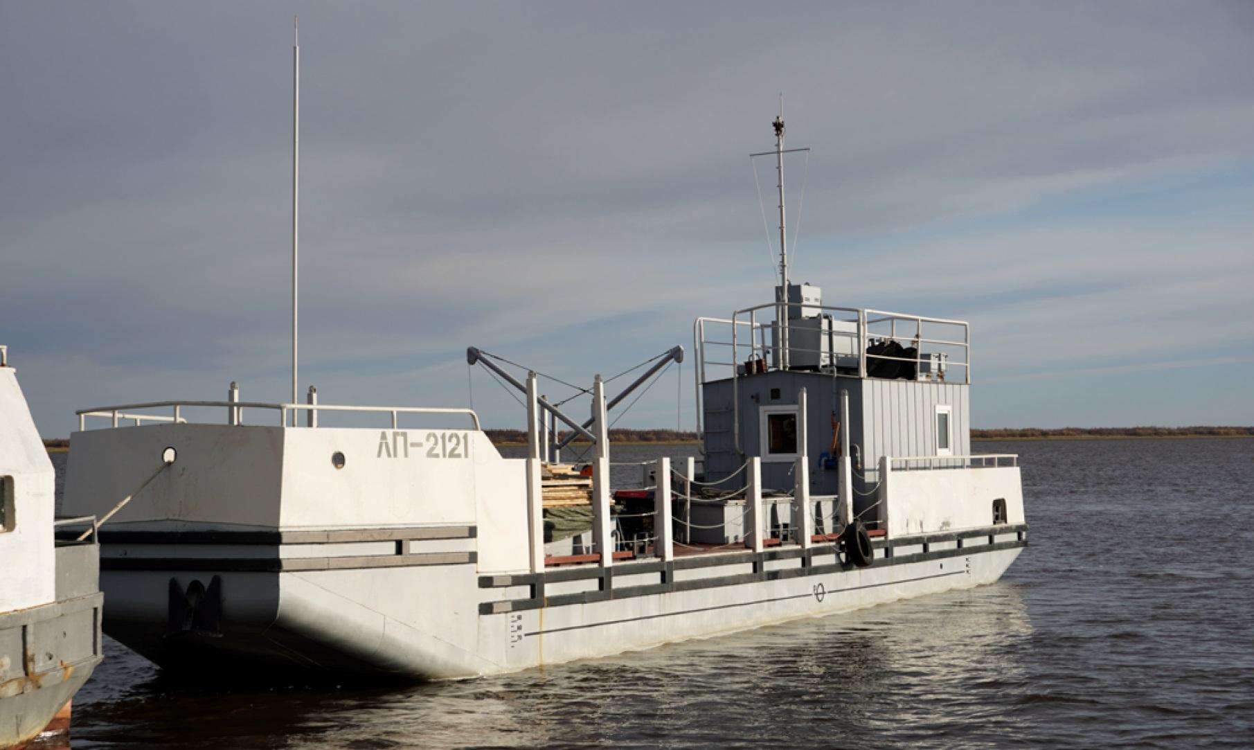 Новый плашкоут прибыл на рыбодобывающее предприятие Приуральского района