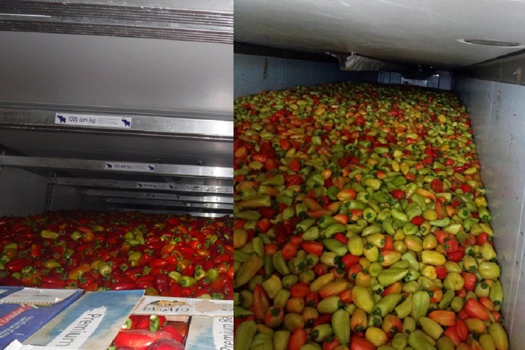 Тюменские таможенники предотвратили ввоз 17 тонн перцев из Казахстана