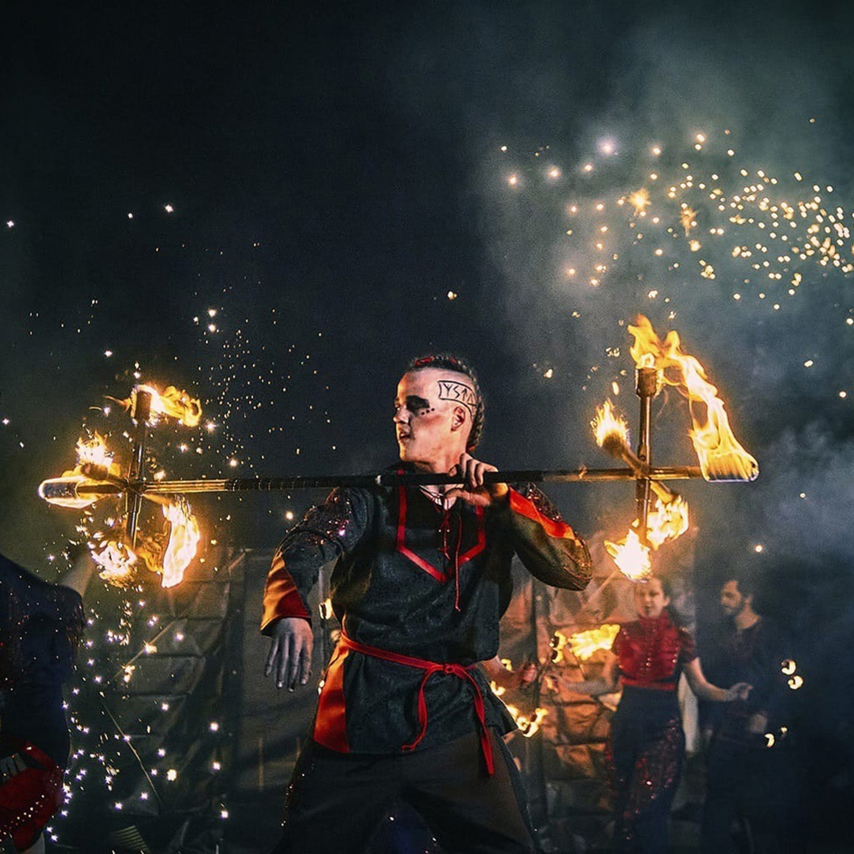 Тюменский огненный театр покажет на набережной спектакль по скандинавским легендам