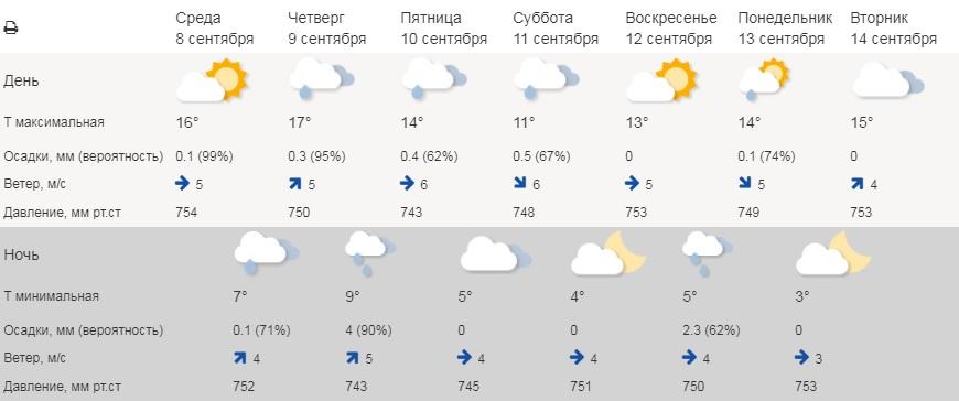 В Курганской области прогнозируются заморозки, дождь и похолодание до -1° С