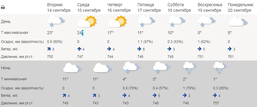 В Курганской области распогодится до +24° С, и резко похолодает