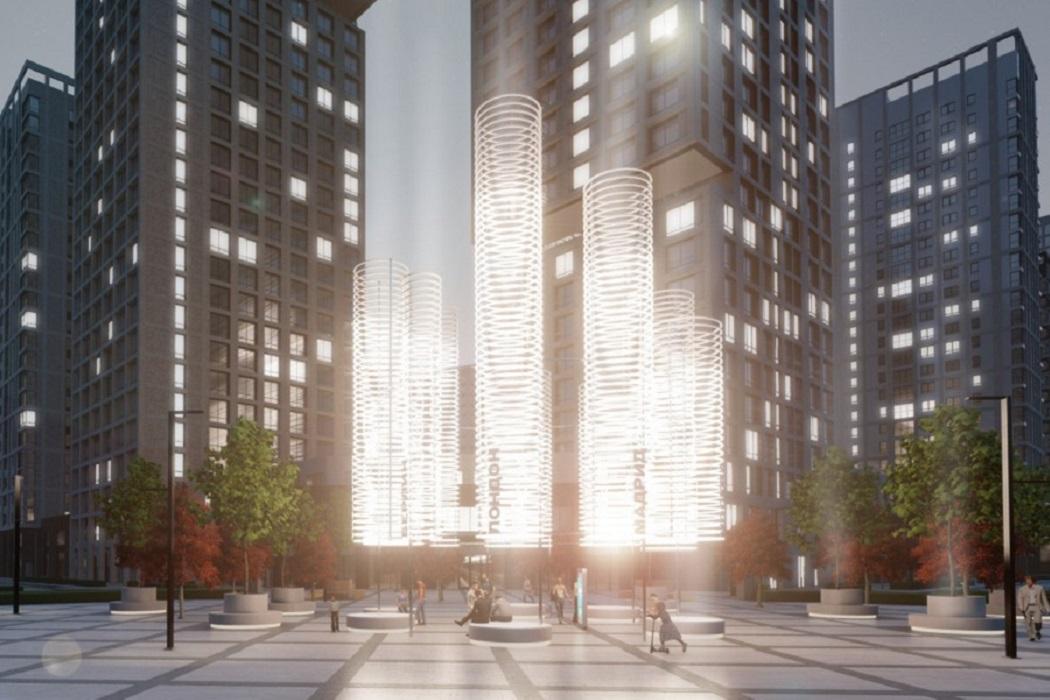 Арт-объект в виде световых башен появится в Екатеринбурге на Московской-Щорса