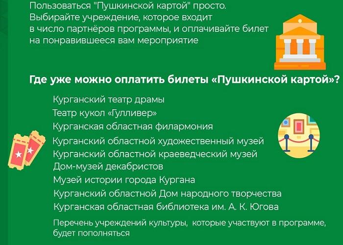 """Зауральцы попросили расширить действие """"Пушкинской карты"""""""