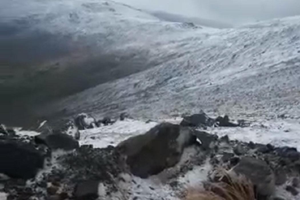 В горах Свердловской области выпал первый снег