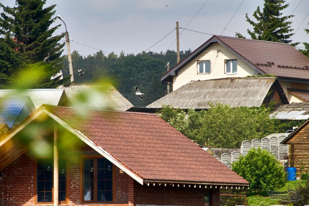 Деревня дома лето