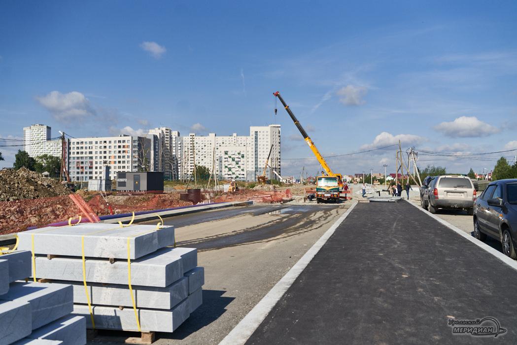 Дорога между Широкой речкой и Академическим Екатеринбург
