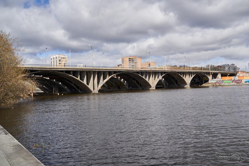 Екатеринбург Исеть набережная Макаровский мост