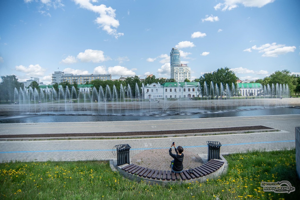 Фонтан в Историческом сквере Екатеринбурга