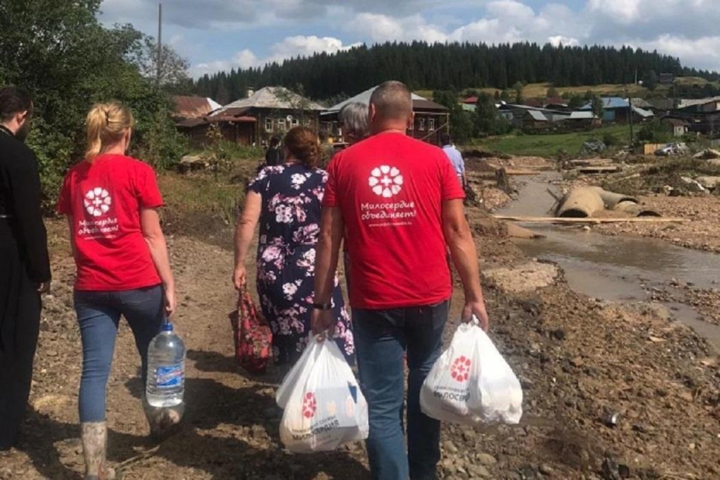 Гуманитарная помощь в Нижние Серги