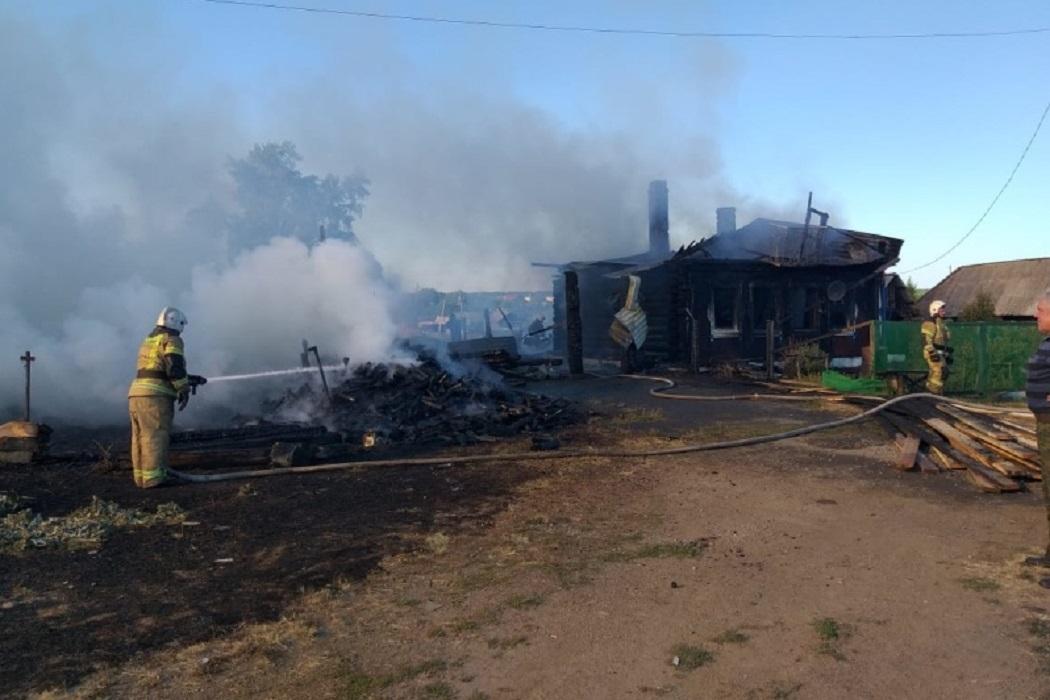 Пожар в деревне Решёты